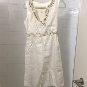 Kate Spade Beige Dress Size 4 with gold stud